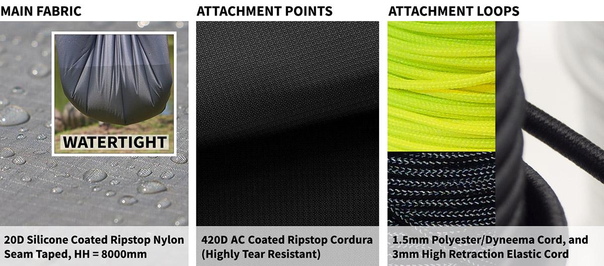 G-Mod 35 and 55 Tarp materials